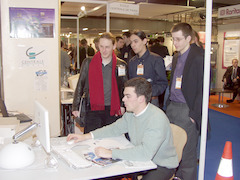 VideoLAN booth at Linux Expo Paris 2003